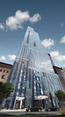 Apesar da crise econômica e financeira que ainda atinge várias partes do mundo, incluindo os EUA, a Big Apple sabe como se reinventar e assiste um novo boom na construção de torres de apartamentos de luxo para multimilionários. Na foto, o arranha-céu One57, situado no centro de Manhattan