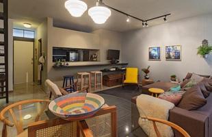 Integração e criatividade fazem parte da decoração do pequeno apartamento que conquista cada vez mais adeptos. Na foto, projeto de Marina Dubal