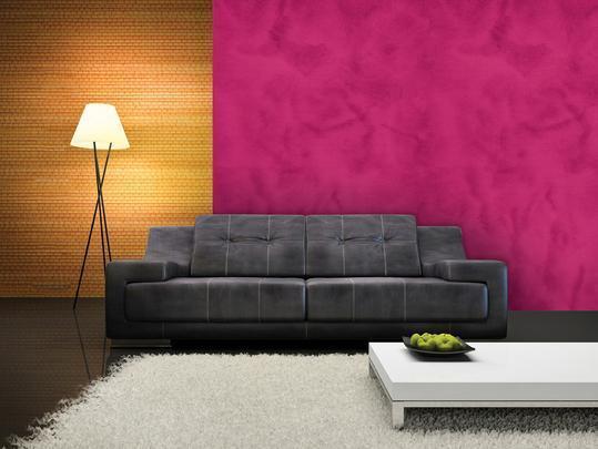 Texturas conferem charme à decoração unindo durabilidade, estética e bom custo. Efeitos podem ser usados tanto em ambientes internos quanto nas áreas externas. Na foto, aspecto de camurça