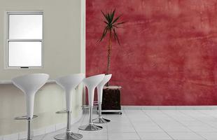 Texturas conferem charme à decoração unindo durabilidade, estética e bom custo. Efeitos podem ser usados tanto em ambientes internos quanto nas áreas externas. Na foto, aspecto de concreto