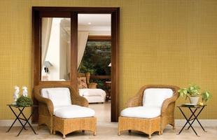 Texturas conferem charme à decoração unindo durabilidade, estética e bom custo. Efeitos podem ser usados tanto em ambientes internos quanto nas áreas externas. Na foto, aspecto de linho