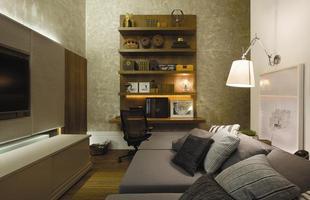 Texturas conferem charme à decoração unindo durabilidade, estética e bom custo. Efeitos podem ser usados tanto em ambientes internos quanto nas áreas externas. Na foto, aspecto de mármore