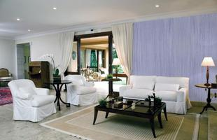 Texturas conferem charme à decoração unindo durabilidade, estética e bom custo. Efeitos podem ser usados tanto em ambientes internos quanto nas áreas externas. Na foto, aspecto de palha