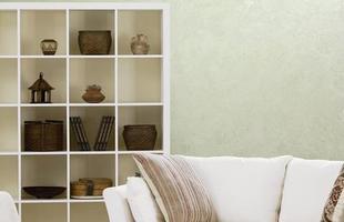 Texturas conferem charme à decoração unindo durabilidade, estética e bom custo. Efeitos podem ser usados tanto em ambientes internos quanto nas áreas externas. Na foto, aspecto de seda