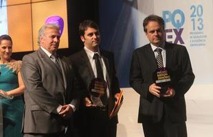 Solenidade de entrega do troféu dos vencedores do Prêmio Edison Zenóbio de Comunicação Imobiliária, que aconteceu em novembro de 2013