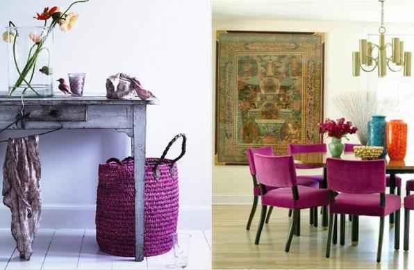 Cativante e enigmática, orquídea radiante é a nova cor da decoração em 2014, segundo a Pantone. Com nuances e variações de fúcsia, roxo, lilás e rosa, o tom pode ser usado com cautela em pintura, adornos e acessórios - Reprodução/Internet