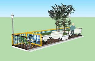Projeto do parklet da Rua dos Goitacazes, no Centro