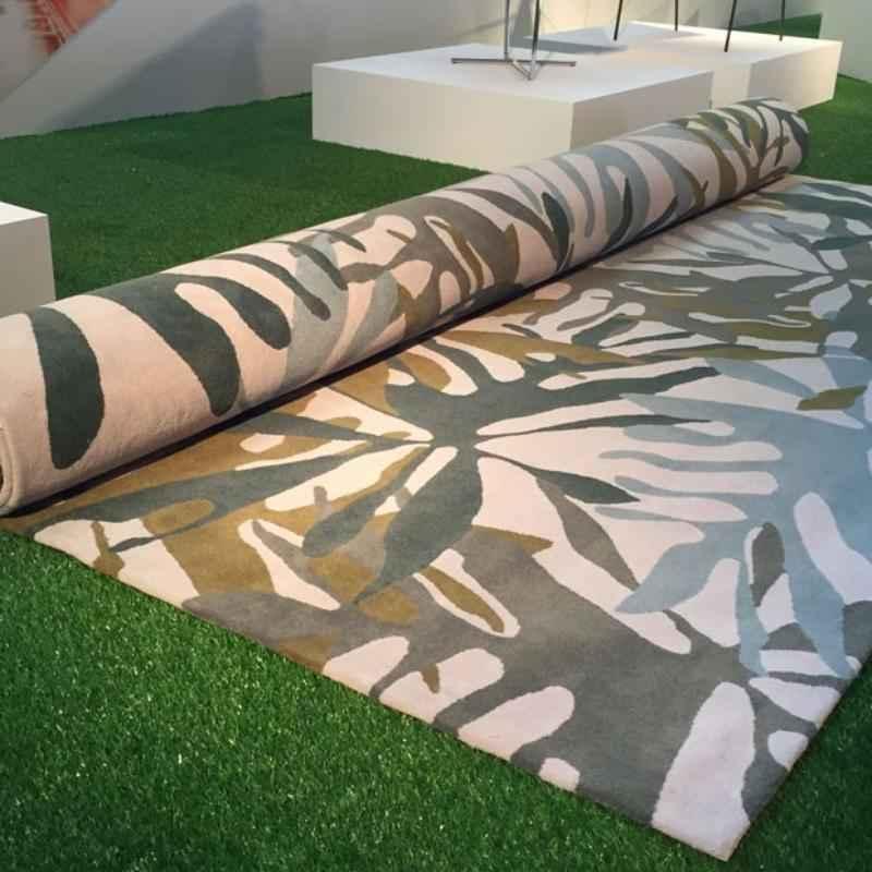 Tapete Inhotim, design Alfredo de Oliveira para a Punto e Filo, na mostra Be Brasil