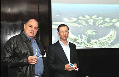 Flávio Escobar e João Gonçalves, do Grupo Arqui300, acreditam na tecnologia (Alessandro Carvalho/Divulgação)