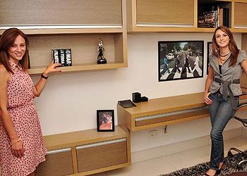 Para as designers de interiores Fabiana Visacro e Laura Santos, os nichos surgiram para compor melhor v�rios tipos de ambientes (Eduardo Almeida/RA Studio)