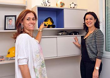 As arquitetas Patr�cia Guerra e Roziane Faleiro afirmam que os nichos servem para quebrar o ritmo em uma parede (Eduardo Almeida/RA Studio)