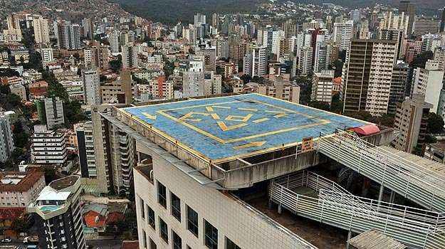 Em BH, apenas 10 heliportos são registrados na Anac para pousos e decolagens  (Eduardo de Almeida/RA studio)