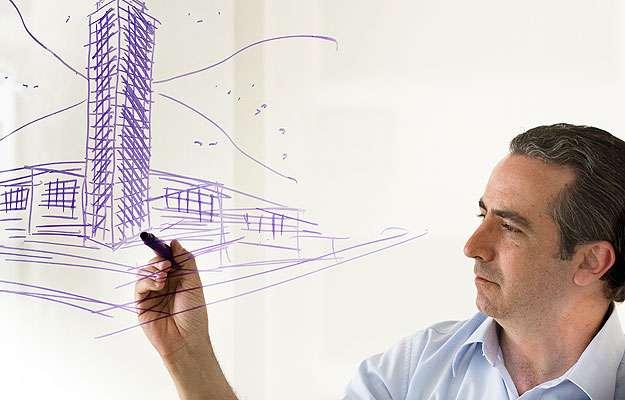 Arquiteto e urbanista Bernardo Falkasvolgyi, respons�vel pelo desenho do edificio (Divulga��o/FalKasVolGyi)