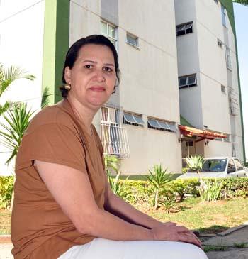 Maria Aparecida Costa de Araújo, síndica: obra bem planejada não traz problema (Eduardo de Almeida/RA studio)