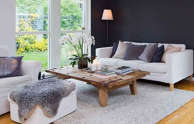 Esta sala valoriza o degradê em tons de cinza - Reprodução/Internet/vistaacasa.blogspot.com