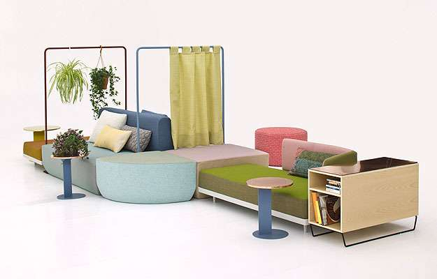 Bikini Island Landscape - Novo sistema composto por assentos e módulos diferenciados desenvolvido pelo designer alemão Werner Aisslinger para a Moroso (Link Comunicação/Divulgação)