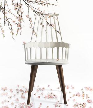 Comback Chair por Patricia Urquiola para Kartell (Link Comunicação/Divulgação)
