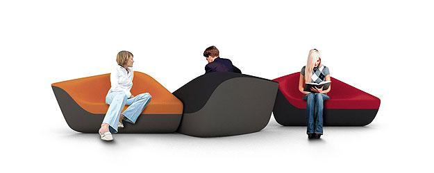 Poltronas Seating Stones (Link Comunicação/Divulgação)
