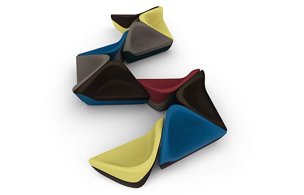 Poltronas Seating Stones inspiradas na natureza (Link Comunicação/Divulgação)