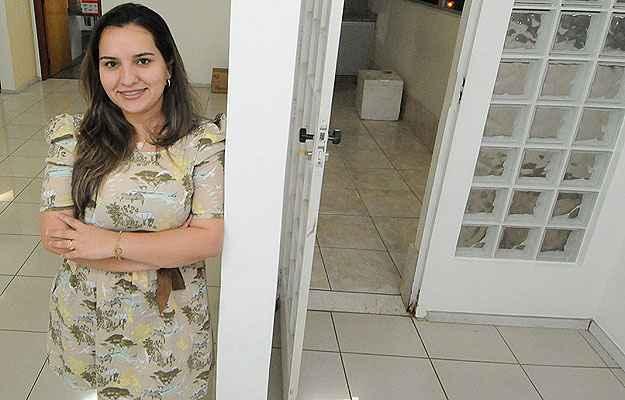A engenheira Alexandra Rocha Baltazar Xavier conseguiu fechar um contrato de aluguel em menos de um mês   (Beto Magalhães/EM/D.A Press)