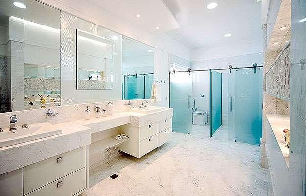 Banheiro com aplicação do drywall RU (Knauf/Divulgação)