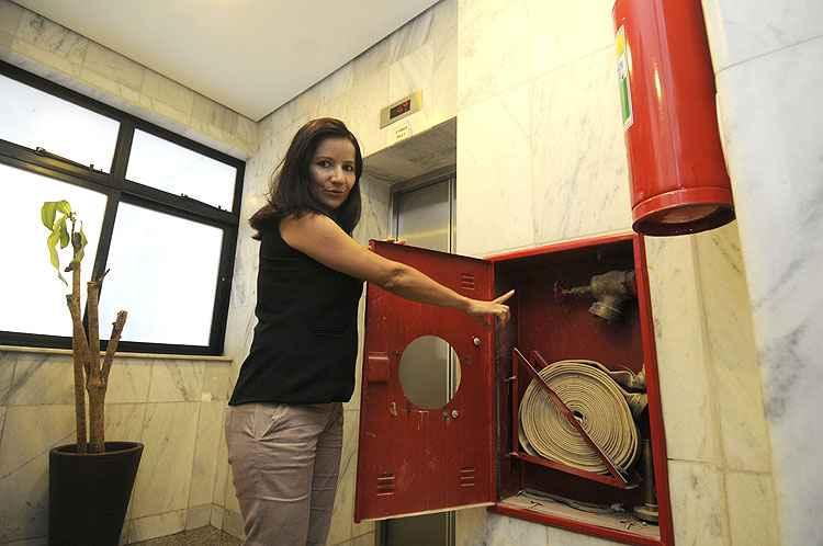 Edsônia Galvão, da Soluteste Incêndio: maioria dos prédios em situação irregular - Jair Amaral/EM/D.A Press