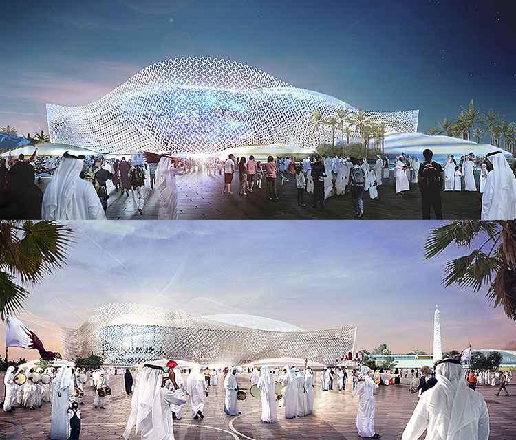 Qatar apresenta projetos de est�dios para a Copa do Mundo de 2022