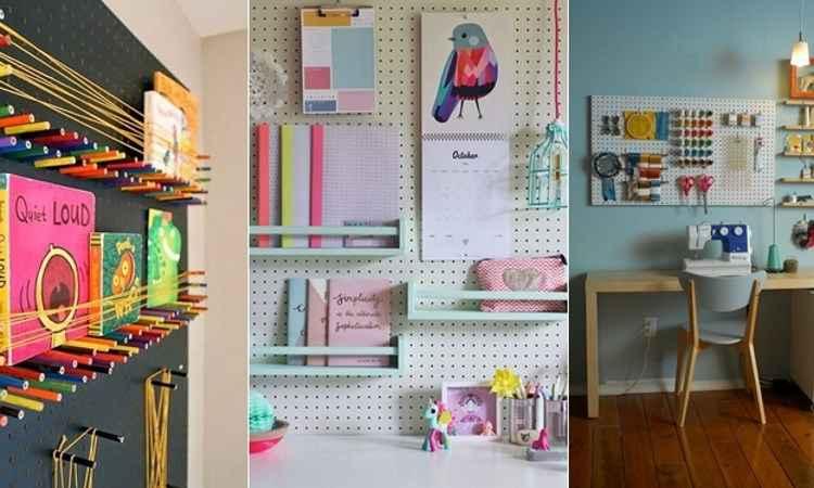 Use painel de eucatex para organizar e decorar a casa