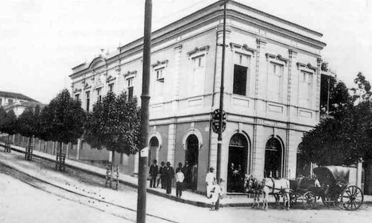 Em 1909, como era o imóvel, ainda como Banco de Crédito Real - Reprodução