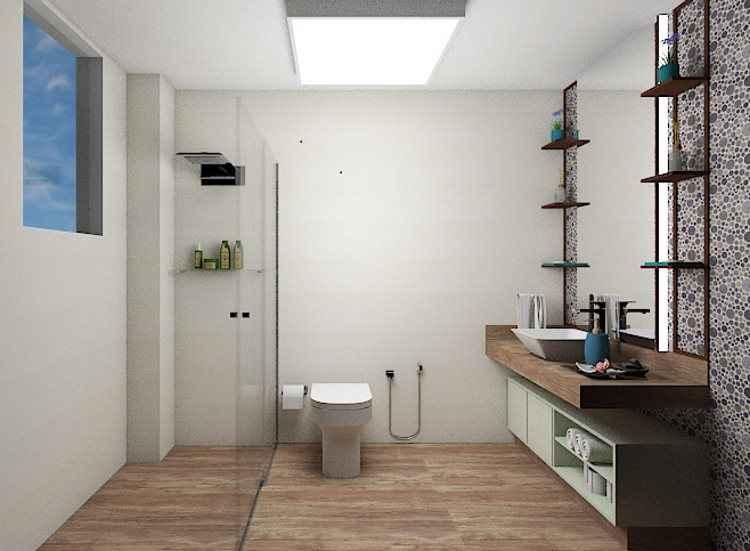 Arquiteta cria banheiro relaxante para assinante premiada