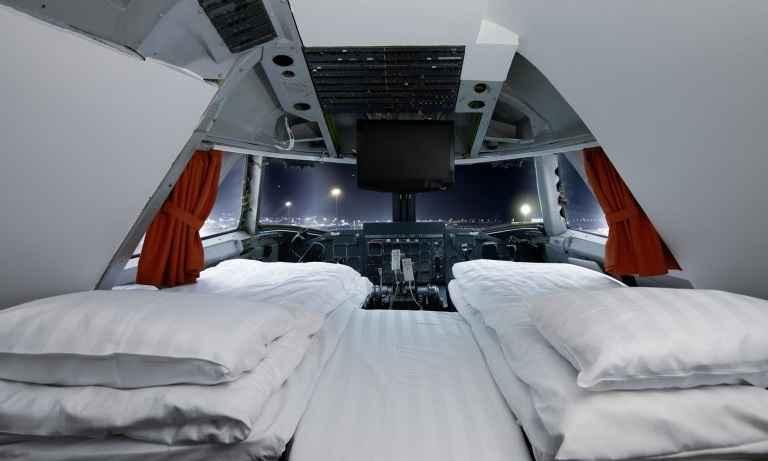 Ex-cabine do piloto é uma das suítes mais luxuosas - Reprodução jumbojet.com