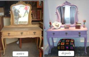 Engajadas com a sustentabilidade e avessas à mesmice, dupla trabalha na reforma e personalização de móveis antigos e outros objetos
