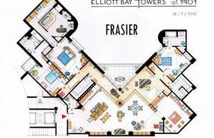 O apartamento do Dr. Frasier Crane, da série Frasier