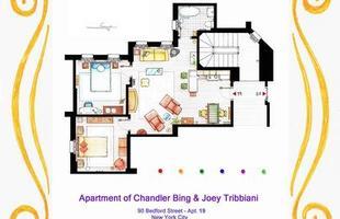 Estas plantas representam os apartamentos de Monica e Rachel, e de Chandler e Joey, do seriado Friends