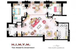 O apartamento de Ted Mosby, do show 'How I met your mother'