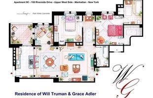 As moradas de Will Truman, Grace Adler e Jak MacFarland, do seriado 'Will & Grace'