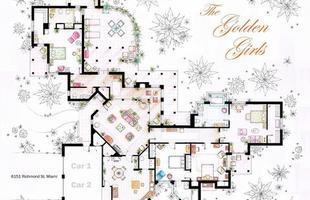 A casa de Blanche Deveraux, Rose Nylund, Dorothy Sporznak e Sophia Petrillo em Miami, do seriado Golden Girls