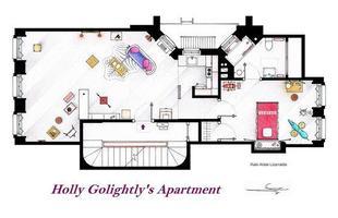 Esta é a planta do apartamento de Holly Golightl, de 'Breakfast at Tiffany's'