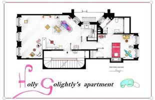 Esta é a planta do apartamento de Holly Golightl, de 'Breakfast at Tiffany's'