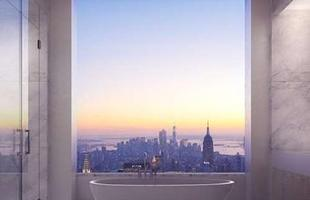 O edifício residencial que será o mais alto de NY e do continente americano tem unidades que chegam a R$ 190 milhões. A obra deve ser concluída em 2015