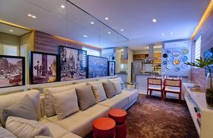 Integração e criatividade fazem parte da decoração do pequeno apartamento que conquista cada vez mais adeptos. Na foto, projeto de Luciana Araújo e Nathália Otoni