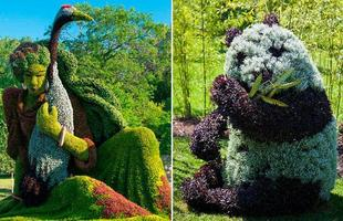A mosaicultura produz obras de arte com vida própria, feitas de plantas e flores, combinadas de forma a criar esculturas e desenhos de grandes dimensões. Festival dedicado a esta arte vai até setembro no Canadá