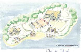 Esta ilha pirata na Inglaterra é criação de um multimilionário em homenagem ao avô. A aldeia fantasia inclui praia, lagoa, casa de hóspedes e até um pub temático, e serve como área de lazer particular da família