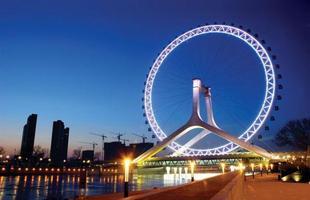 Algumas pontes, além de unir um lugar ao outro, são incríveis obras de arte que atraem turistas de todo o mundo. Ao atravessá-las, os pedestres adquirem uma experiência única. Na foto, Tianjin Eye Bridge, na China