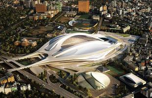 Palco central das Olimpíadas 2020, este estádio em Tóquio terá uma arquitetura futurista e inovadora. A consagrada arquiteta Zaha Hadid é autora do projeto do Estádio Nacional do Japão, que deve ficar pronto em 2018