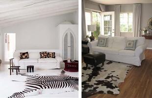 Animais invadem a composição da casa e embelezam os ambientes de maneira sofisticada