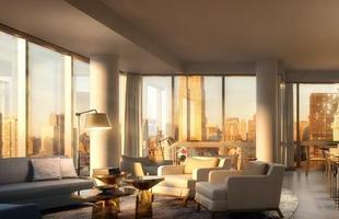 O 47º andar da torre de vidro One Madison Park, em Nova York, é a nova aquisição do casal Gisele Bündchen e Tom Brady. Eles pagaram US$ 14 milhões pelo imóvel na edificação de alto luxo. Fotos mostram perspectivas das coberturas, do interior de alguns apartamentos e outras áreas do condomínio