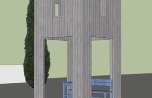 Arquitetos consagrados em todo mundo criaram pontos de ônibus diferentes na Áustria. O projeto em uma pequena vila austríaca mostra como esses abrigos também podem ser uma forma de expressão. Na foto, proposta de Alexander Brodsky