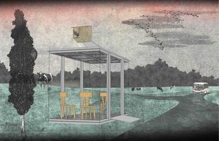 Arquitetos consagrados em todo mundo criaram pontos de ônibus diferentes na Áustria. O projeto em uma pequena vila austríaca mostra como esses abrigos também podem ser uma forma de expressão. Na foto, proposta de Smiljan Radic