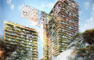 Austrália terá o maior jardim vertical do mundo. Com projeto de Jean Nouvel e concepção paisagística de Patrick Blanc, condomínio em Sydney receberá cobertura verde que vai a 166 metros de altura, e deve ser inaugurado em janeiro